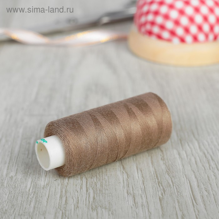 Нитки 40/2, 365м, №430, цвет коричневый