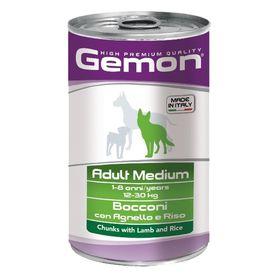 Консервы Gemon Dog Medium  для собак средних пород, кусочки ягненка с рисом, 1250 г