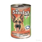 Влажный корм Simba Dog для собак, кусочки говядина с овощами, ж/б, 1230 г
