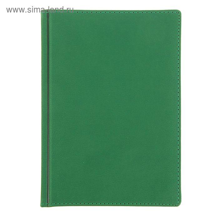 Ежедневник датированный 2017г А5+, 176 листов LEADER, белый блок, ляссе, зеленый
