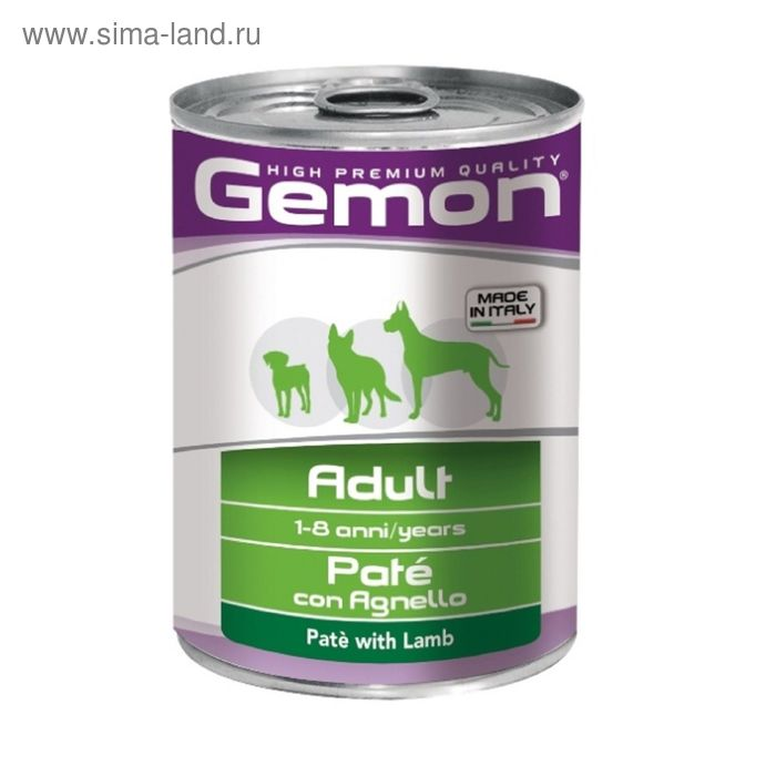 Консервы Gemon Dog  для собак, паштет ягненок, 400 г