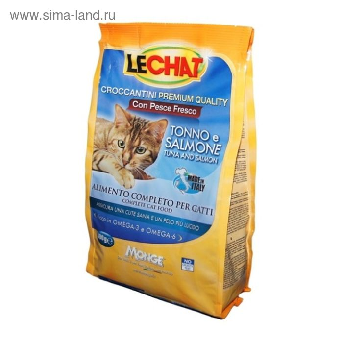 Сухой корм Lechat Cat  для кошек, с тунцом и лососем, 400 г
