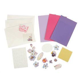 """Набор для творчества """"Цветы"""" 3 открытки/3 конверта 23х13 см"""