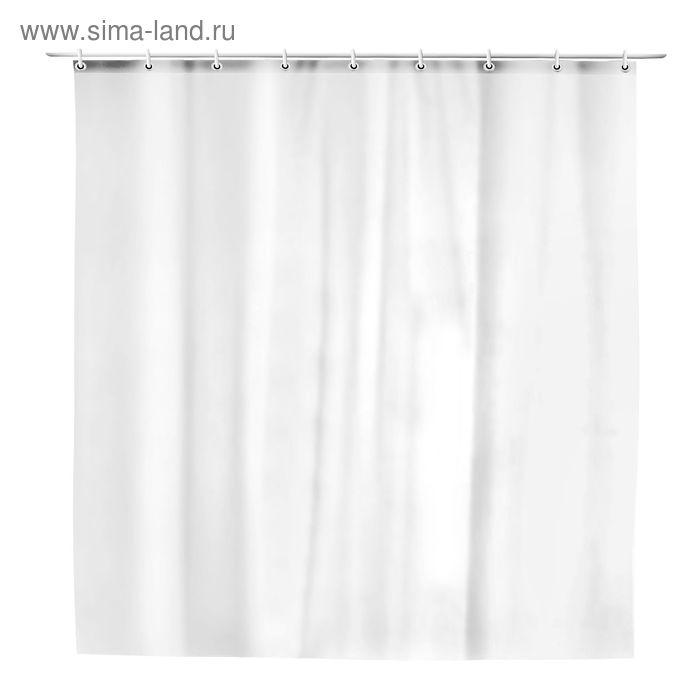 Штора для ванной 180х180 см, цвет белый