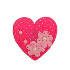 """Мягкая игрушка-магнит """"Сердце с цветочками"""" в крапинку, цвета МИКС"""