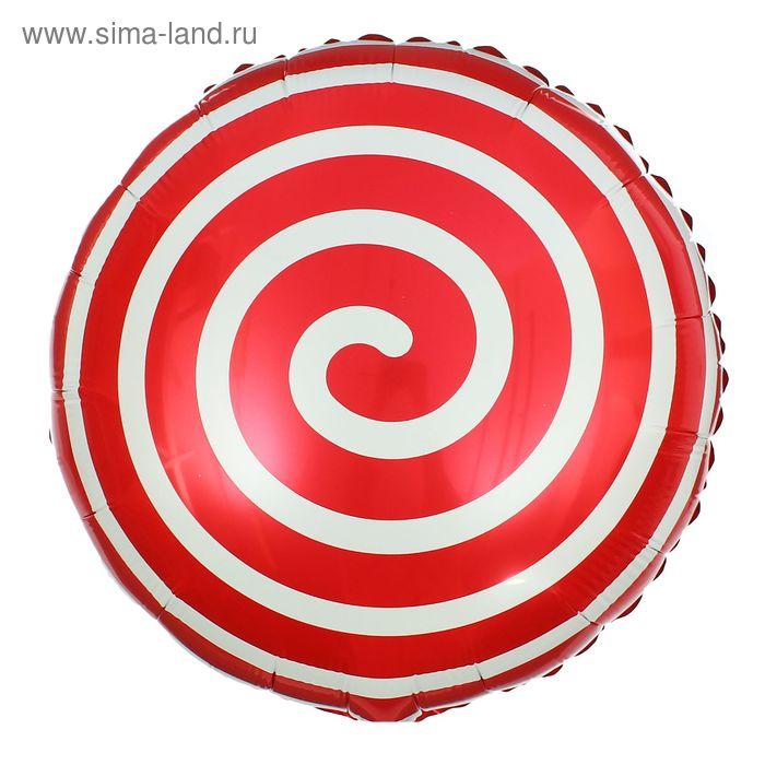 """Шар фольгированный 18"""" """"Леденец"""", круг, цвет красный 1507706"""