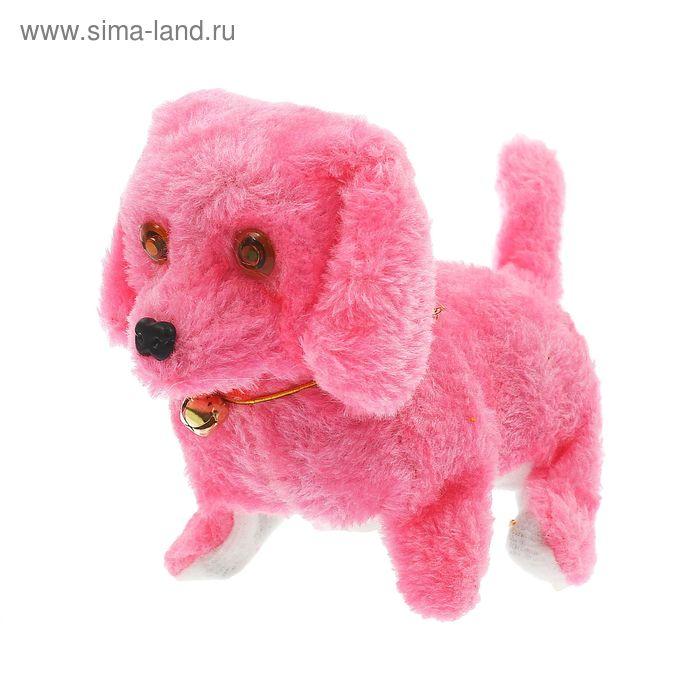 """Интерактивная мягкая игрушка """"Пёсик"""" с бубенчиком, светятся глаза и пищит, цвета МИКС"""