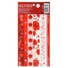 Клеевая тесьма «Любовь», красные розы, 10,5 х 21 см