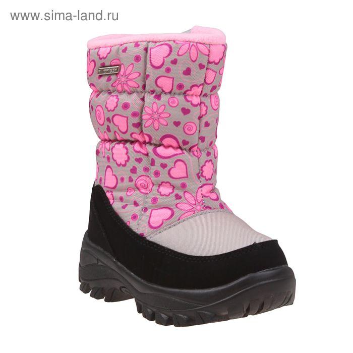Сапоги дошкольные арт. SC-26034 (бежевый/розовый) (р. 32)