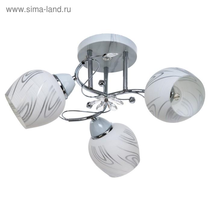 """Люстра """"Пиколи"""" 3 лампы 40W E27 основание белый"""