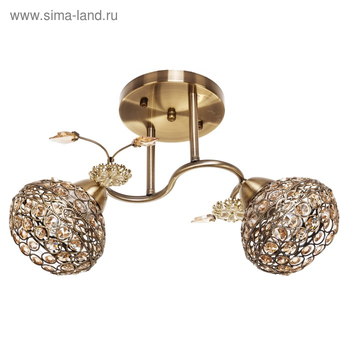 "Люстра ""Шанто"" 2 лампы 40W E27 основание золото 37х25х25 см"