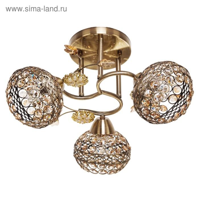 "Люстра ""Шанто"" 3 лампы 40W E27 основание золото 37х37х25 см"