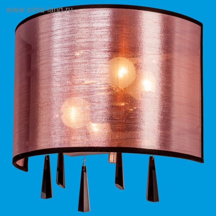 """Бра абажур """"Изыск"""" 2 лампы 40W E14 основание хром 30х10х30 см"""