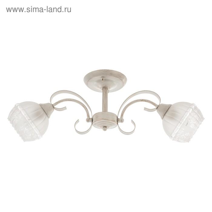 """Люстра классика """"Фриони"""" 2 лампы 60W E27 основание белый-золото 63х15х22 см"""