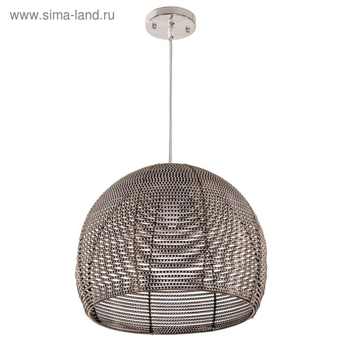 "Люстра подвес ""Каунти"" 1 лампа 40W E27 коричневый 30х30х110 см"