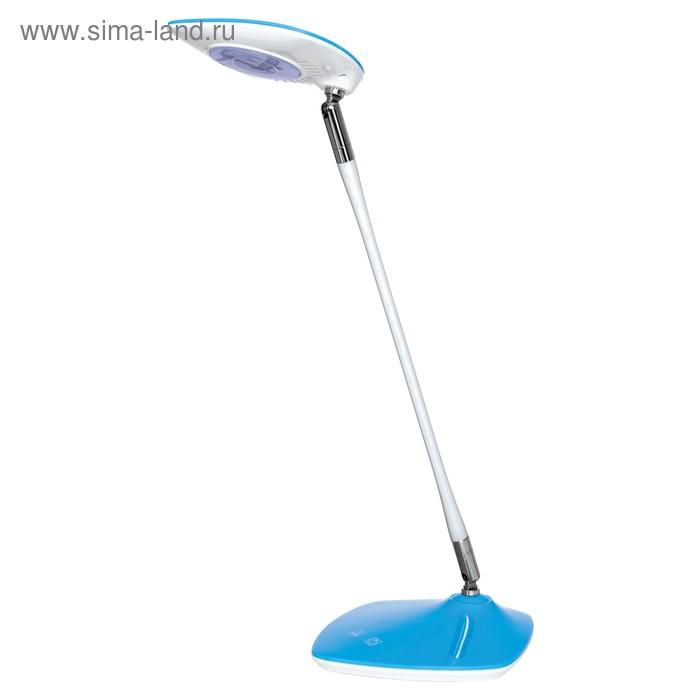 Светильник настольный светодиодный 5W голубой 17,6х16,2х40,5 см