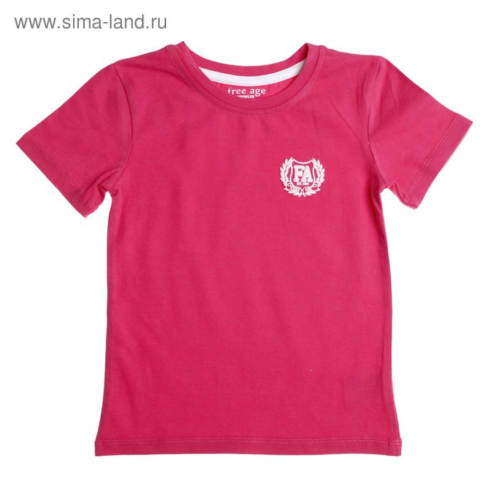 Футболка для девочки, рост 110 см (60), цвет ярко-розовый (арт. ZG 02479-F1 FA_Д)