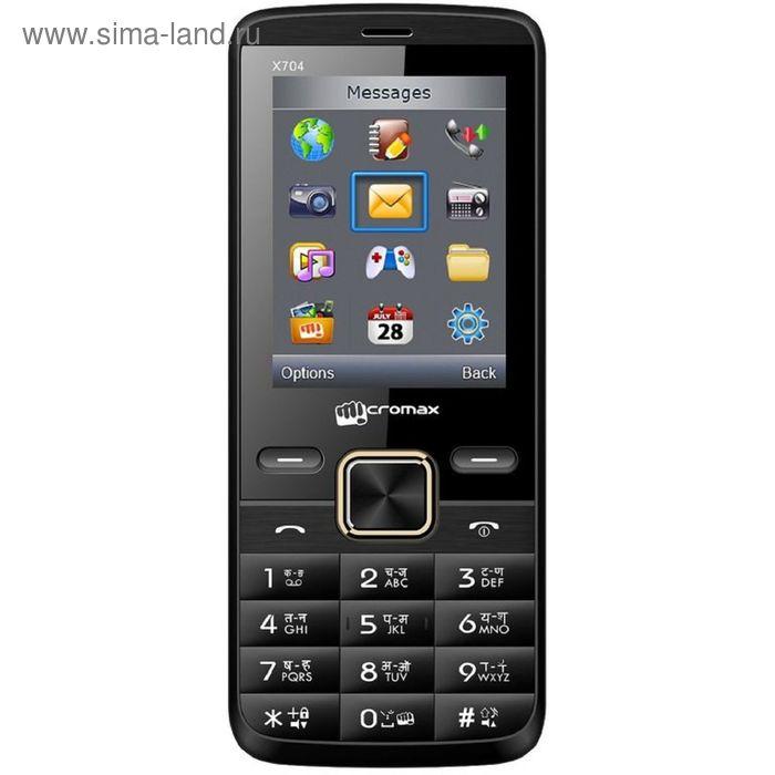 Сотовый телефон Micromax X704 черный
