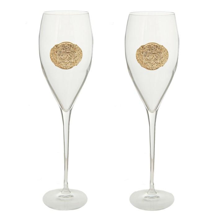 """Набор из 2 бокалов для шампанского"""" Infinity rings"""", 320 мл"""