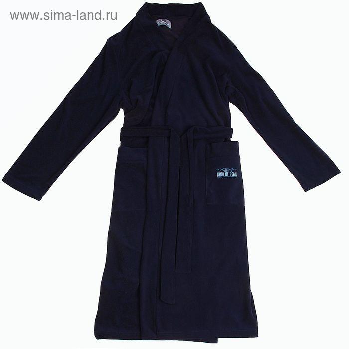 Халат мужской Р739053 цвет темно-синий, рост 170 см, р-р 54 (98)