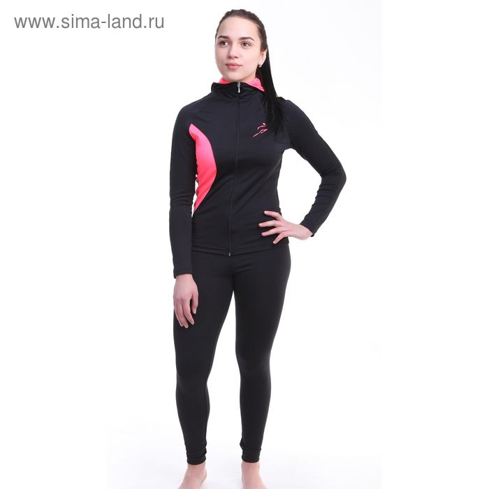 Легинсы женские Р579255, цвет черный, рост 158-164 см, р-р 48 (102)