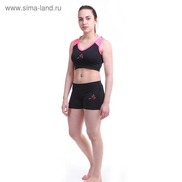 Шорты женские Р579253, цвет черный, рост 158-164 см, р-р 46 (98)