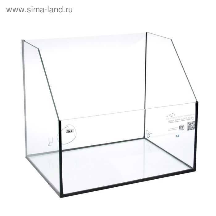 Палюдариум 24 л, 400х300х200/350 мм, толщина стекла 4 мм, УЦЕНКА