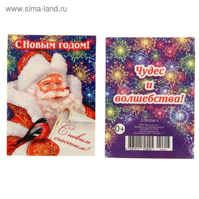 """Открытка-мини """"С Новым Годом!"""" Дед Мороз, письмо"""