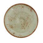 """Тарелка для пирожных d=15,5 см, h=1,3 см """"Крафт"""", цвет зелёный"""