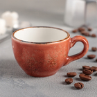 """Чашка кофейная 85 мл d=6 см, h=5 см L=8,5 см """"Крафт"""", цвет терракот"""