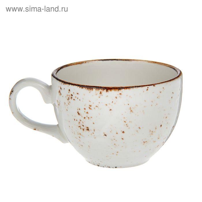 """Чашка чайная 225 мл """"Крафт"""", цвет белый"""