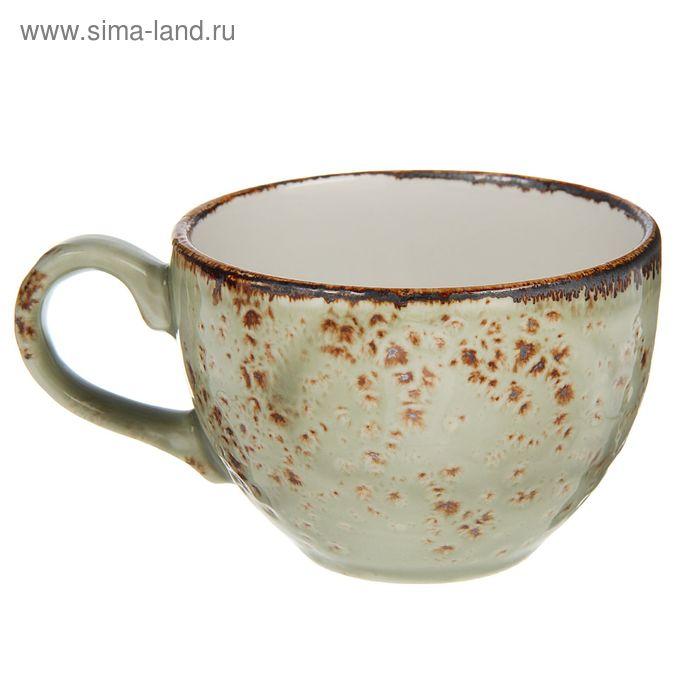 "Чашка чайная 225 мл d=9 см h=6 см L=12 см ""Крафт"", цвет зелёный"
