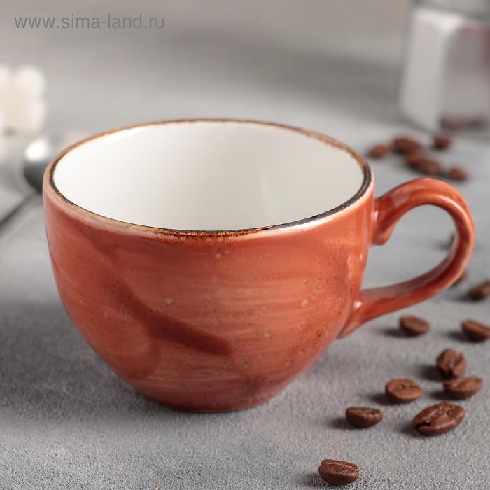 """Чашка чайная 225 мл d=9 см h=6 см L=12 см """"Крафт"""", цвет терракот"""