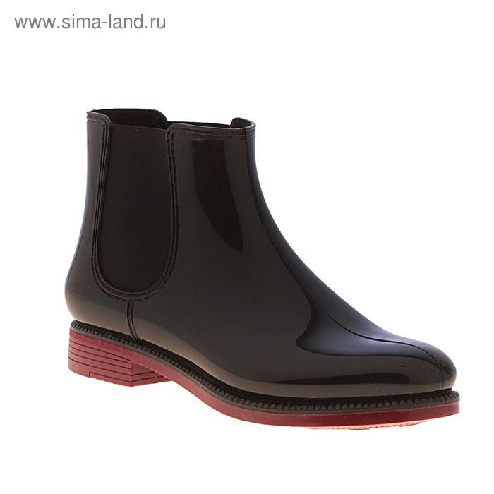 """Ботильоны женские """"Nordman Bora"""" (черный/бордовый) (р. 40)"""