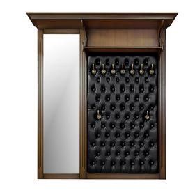 Вешалка 'Валенсия' двухсекционая 7020, цвет 'Итальянский орех'/кожа чёрн Ош