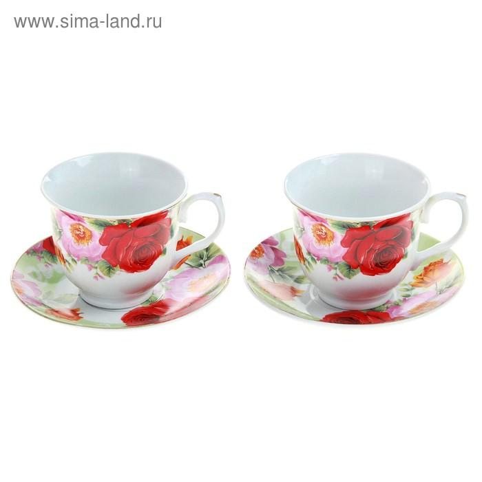 """Сервиз чайный """"Летний луг"""", 4 предмета: 2 чашки 250 мл, 2 блюдца"""