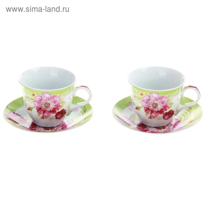 "Набор чайный ""Апрельский бутон"", 4 предмета: 2 чашки 250 мл, 2 блюдца"