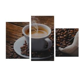 """Модульная картина на подрамнике """"Утренний кофе"""", 29×35 см, 29×45 см, 29×55 см, 90×56 см"""