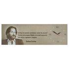 Часы настенные на холсте, серия «Цитаты великих», «Фредерик Бегбедер», 30 × 95 см