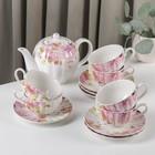 """Сервиз чайный """"Вдохновение"""", 13 предметов: 6 чашек 250 мл, 6 блюдец, чайник 1 л"""