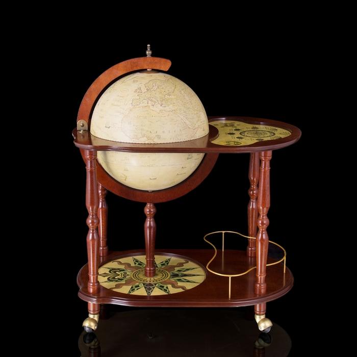 """Глобус-бар со столиком """"Морские просторы"""""""
