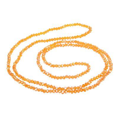 """Бусы """"Хрусталь"""" на резинке, цвет оранжевый, 100см"""