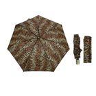 Зонт автоматический, 733742P, R=45см, цвет чёрный/бежевый/коричневый