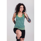 Спортивная майка ONLITOP Fitness time, размер 46-48, цвет зелёный
