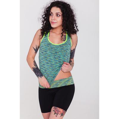 Спортивные шорты ONLITOP Fitness time, размер 46-48, цвет зелёный
