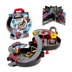 Игровой набор в чемоданчике «Паркинг», Человек-паук, БОНУС — игровой элемент 3D