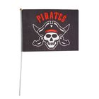 "Флаг пирата ""Pirates"", 30 х 45 см + флагшток"