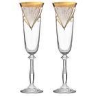 """Набор фужеров для шампанского 190 мл """"Анжела. Свадебный"""", 2 шт"""