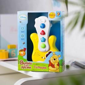 Игрушка музыкальная «Гитара», Медвежонок Винни и его друзья, световые и звуковые эффекты, работает от батареек, БОНУС — аксессуар