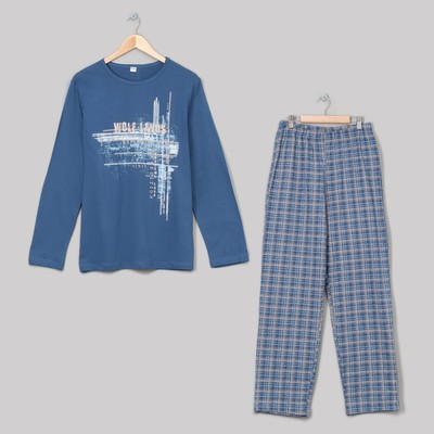 Комплект мужской (джемпер, брюки), размер 52, цвет индиго (арт. 945)